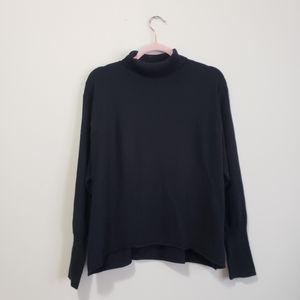 Leith knit dolman sleeve turtleneck sweater L